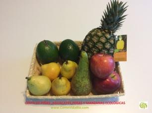 Cesta de Piña ,Peras ,Manzanas y Aguacates Bio 3