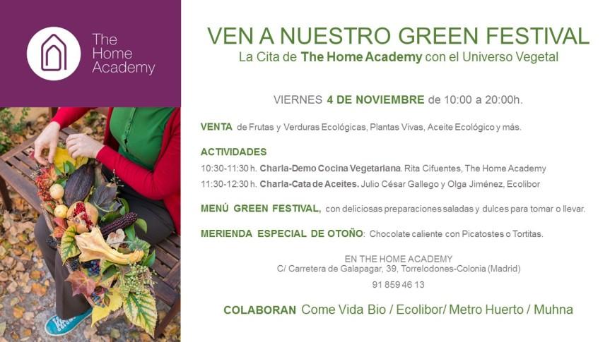 Green Festiva de Otoño – en The Home Academy con la colaboración de Come VidaBio